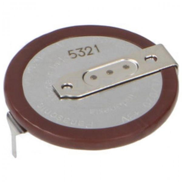 Μπαταρία Κουμπί Λιθίου VL-2020 3V με Λαμάκια Panasonic